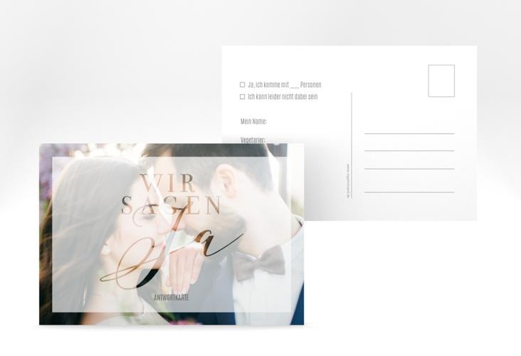 """Antwortkarte Hochzeit """"Amazing"""" A6 Postkarte"""