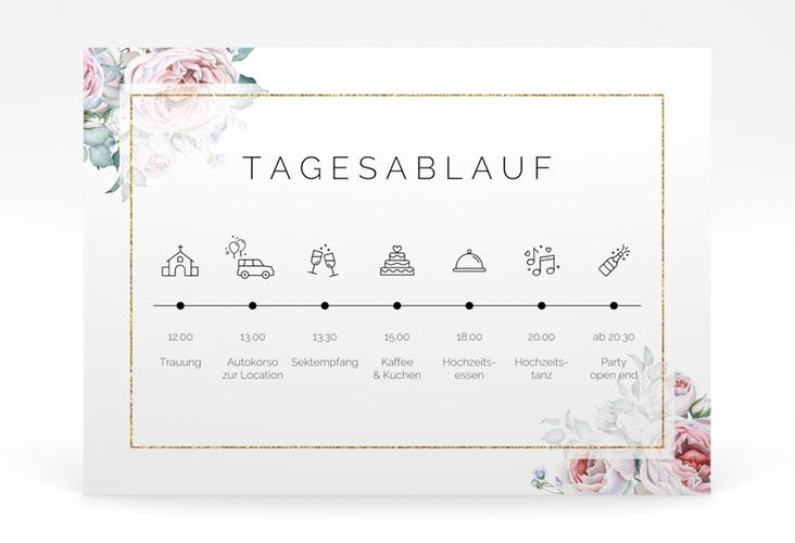"""Tagesablauf Poster Hochzeit """"Embrace"""" 70 x 50 cm Poster weiss"""