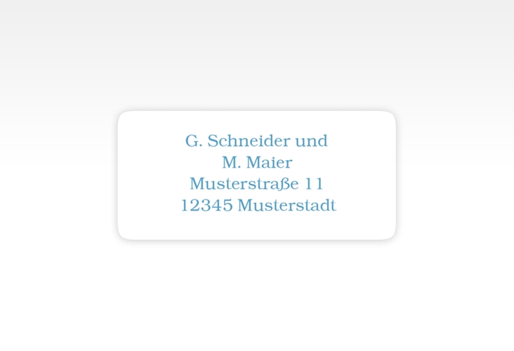 """Absenderetikett Hochzeit """"Muschelreich"""" 45,7 x 21,2 mm"""