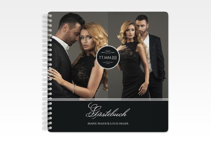 """Gästebuch Hochzeit """"Elegancy"""" Ringbindung schwarz"""