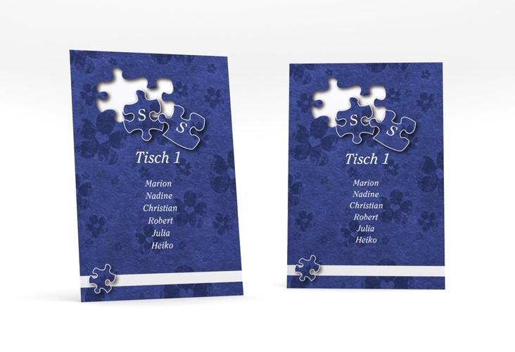 """Tischaufsteller Hochzeit """"Ravensburg"""" Tischaufsteller blau"""