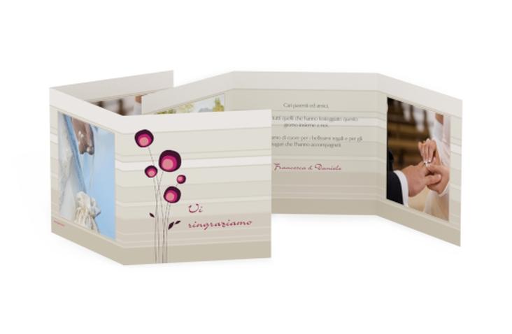 Ringraziamenti matrimonio collezione Tivoli Quadr. Karte doppelt