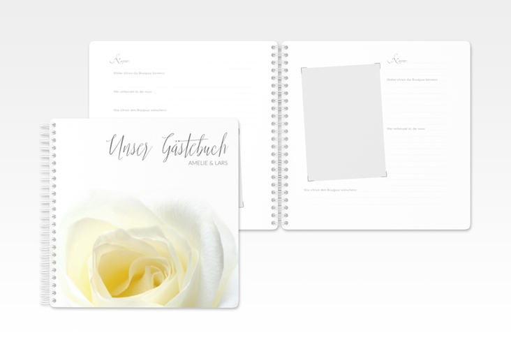 "Gästebuch Hochzeit ""Rose"" Ringbindung"