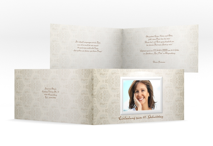 """Einladungskarte """"Elke"""" DIN lang Klappkarte"""