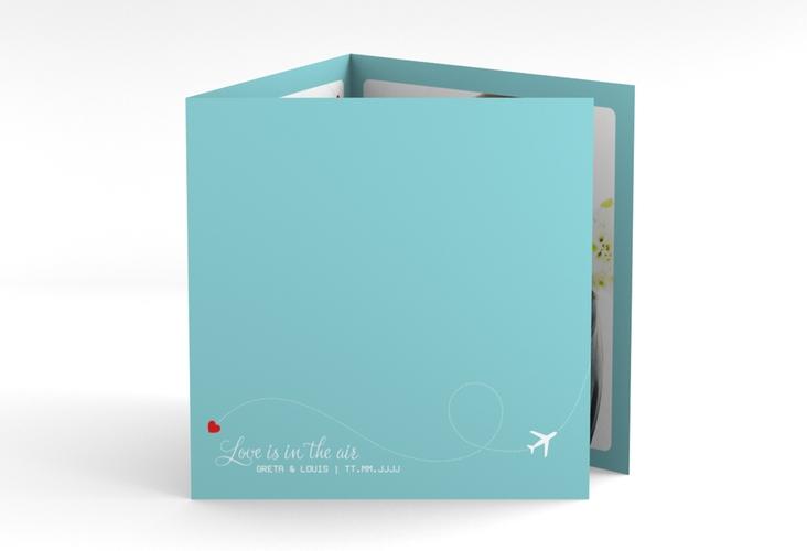 "Dankeskarte Hochzeit ""Weddingpass"" Quadr. Karte doppelt"