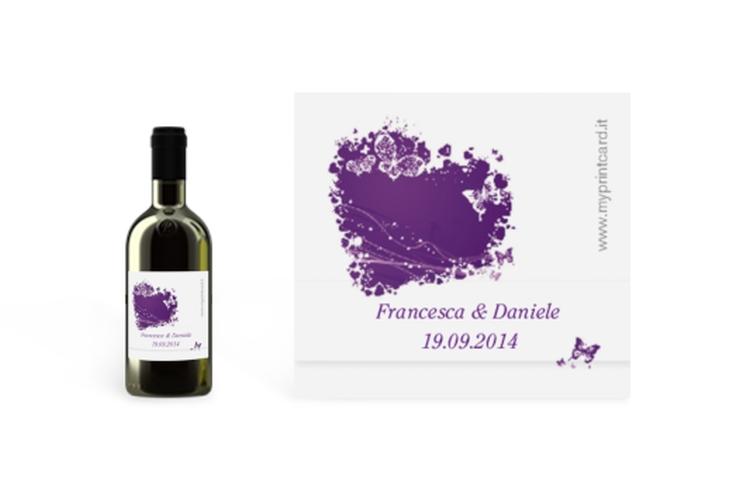 Etichette piccolo matrimonio collezione Milano Etikett Piccolo lila