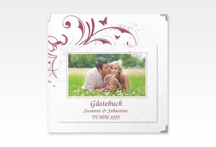 "Gästebuch Selection Hochzeit ""Palma"" Leinen-Hardcover pink"