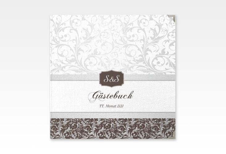 """Gästebuch Selection Hochzeit """"Latina"""" Leinen-Hardcover braun"""