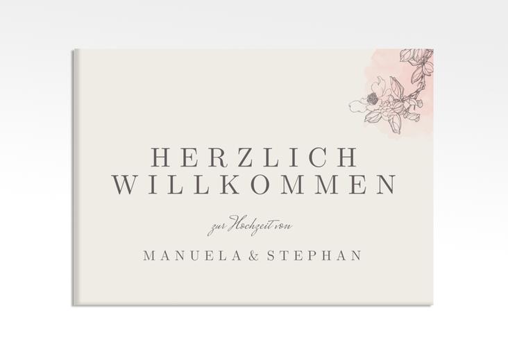 """Willkommensschild Hochzeit """"Artlover"""" 70 x 50 cm Leinwand rosa"""