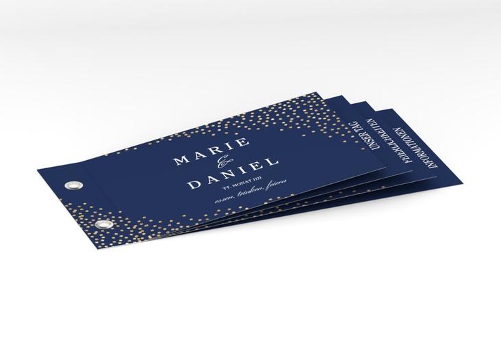 """Hochzeitseinladung """"Glitter"""" Booklet blau"""