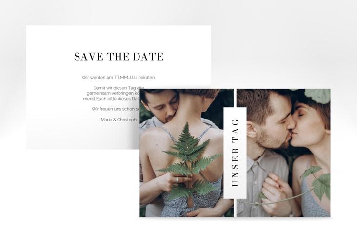 """Save the Date-Karte """"Klarheit"""" A6 quer"""