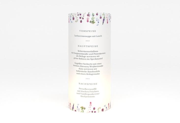"""Windlicht Menü Hochzeit """"Wildblumen"""" Windlicht"""