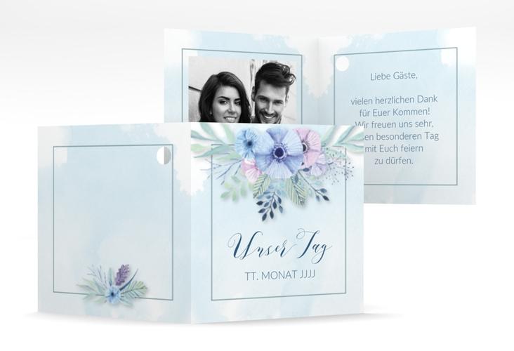 """Geschenkanhänger Hochzeit """"Surfinia"""" Geschenkanhänger 10er Set blau"""