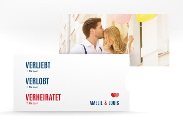"""Hochzeitseinladung """"Couple"""" Einsteckkarte rot"""