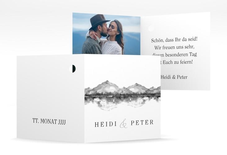 "Geschenkanhänger Hochzeit ""Bergliebe"" Geschenkanhänger 10er Set grau"