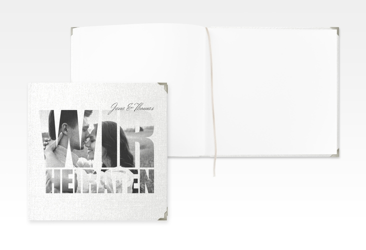 """Gästebuch Selection Hochzeit """"Letters"""" Hardcover weiss"""