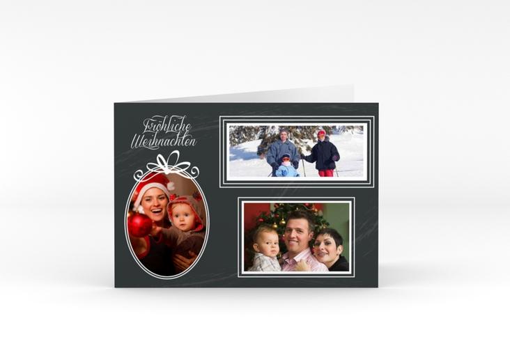"""Weihnachtskarte """"Feiertage"""" A6 Klappkarte Quer"""