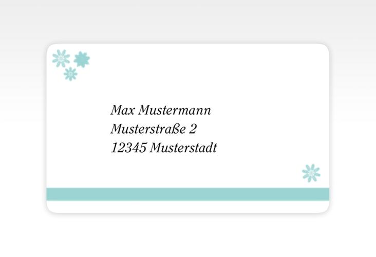"""Empfängeretikett Hochzeit """"Meran"""" 63,5 x 38,1 mm"""