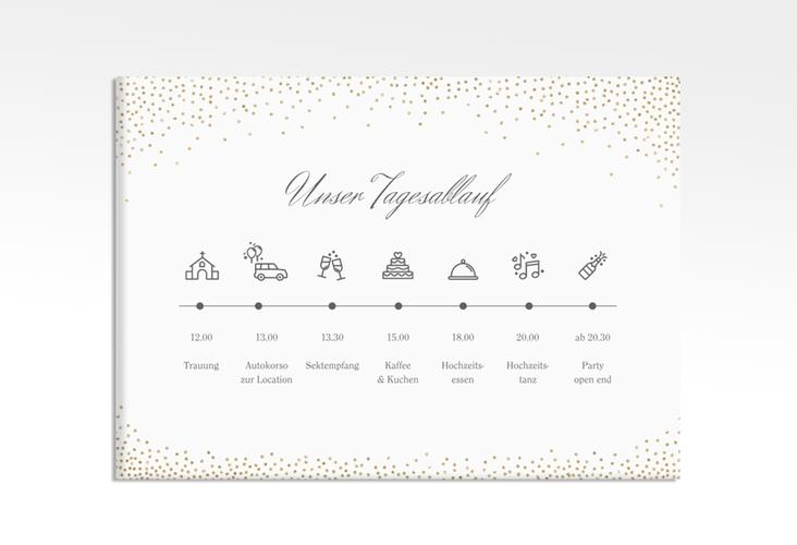 """Tagesablauf Leinwand Hochzeit """"Glitter"""" 70 x 50 cm Leinwand weiss"""
