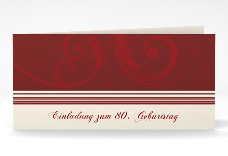 "Einladungskarte ""Katharina"" DIN lang Klappkarte rot"