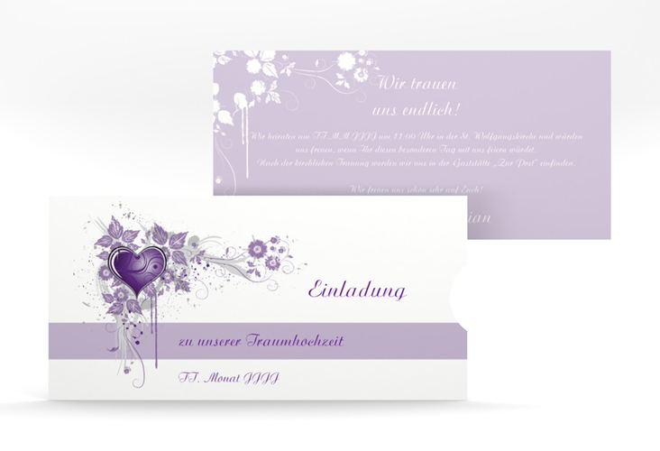 """Hochzeitseinladung """"Triest"""" Einsteckkarte"""