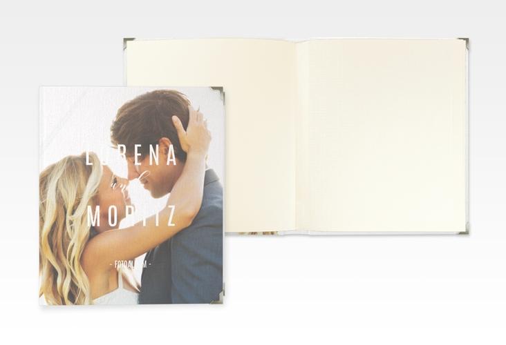 """Hochzeitsalbum """"Memory"""" 21 x 25 cm weiss"""