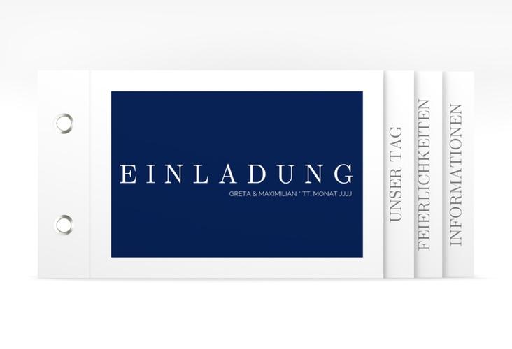 """Hochzeitseinladung """"Simply"""" Booklet"""