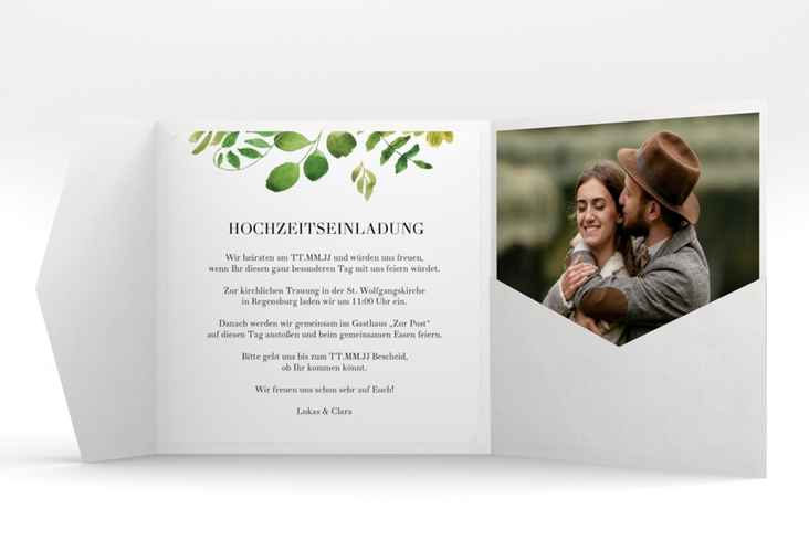 "Hochzeitseinladung ""Botany"" Pocketfold"