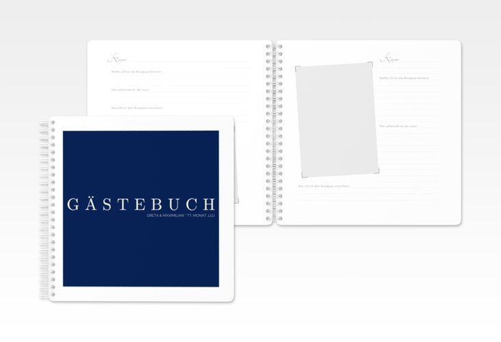 "Gästebuch Hochzeit ""Simply"" Ringbindung"