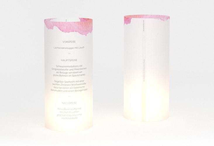 """Windlicht Menü Hochzeit """"Aquarella"""" Windlicht"""