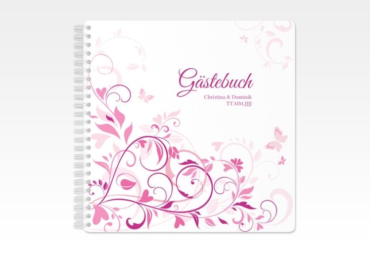 "Gästebuch Hochzeit ""Lilly"" Ringbindung pink"