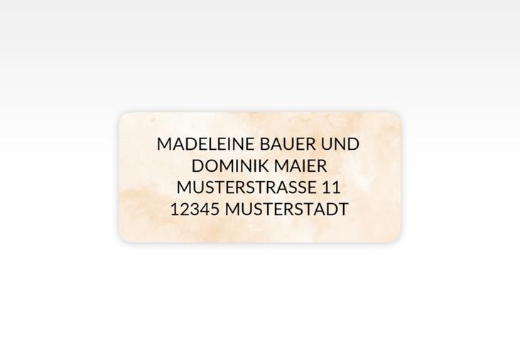 """Absenderetikett Hochzeit """"Marble"""" 45,7 x 21,2 mm beige"""