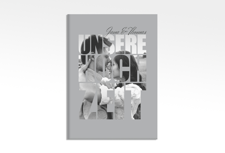 "Willkommensschild Leinwand ""Letters"" 50 x 70 cm Leinwand grau"