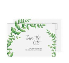 """Save the Date-Postkarte """"Botanic"""""""