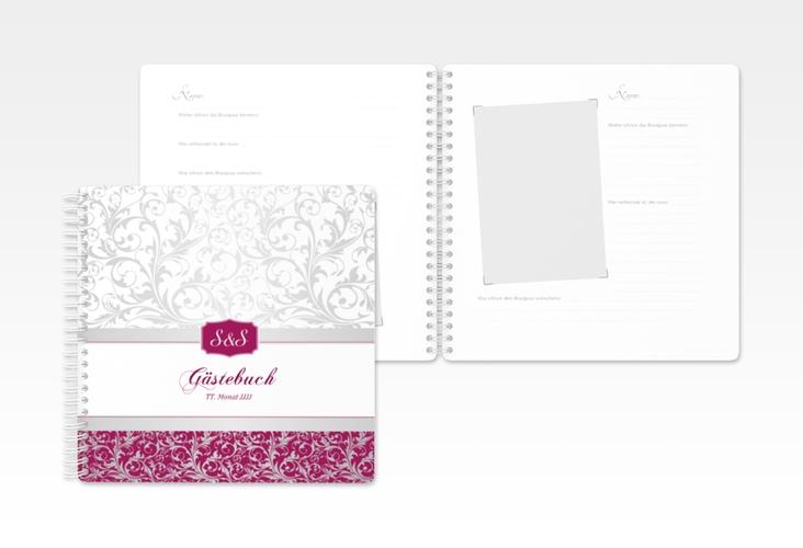 "Gästebuch Hochzeit ""Latina"" Ringbindung pink"