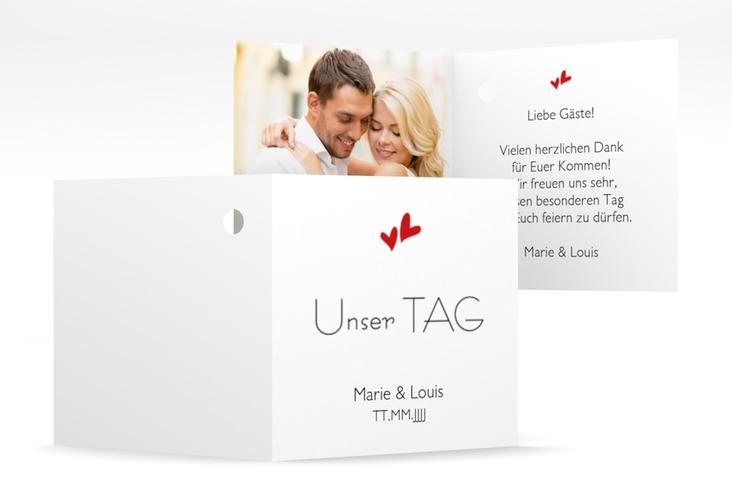 "Geschenkanhänger Hochzeit ""Twohearts"" Geschenkanhänger 10er Set rot"