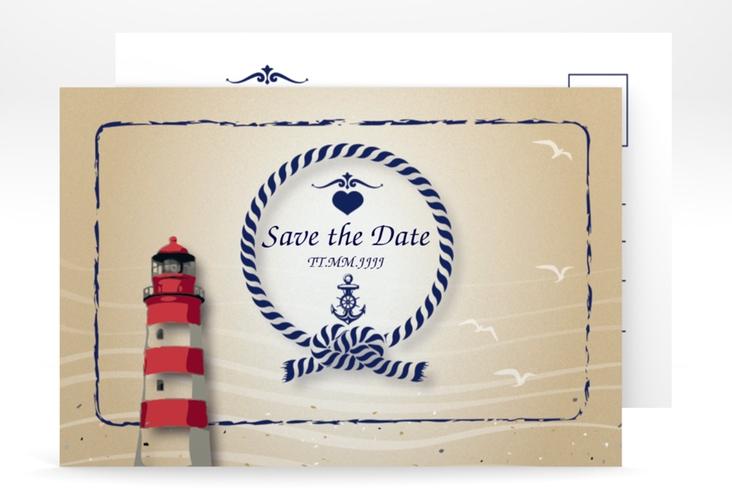 """Save the Date-Postkarte """"Sylt"""" A6 Postkarte"""