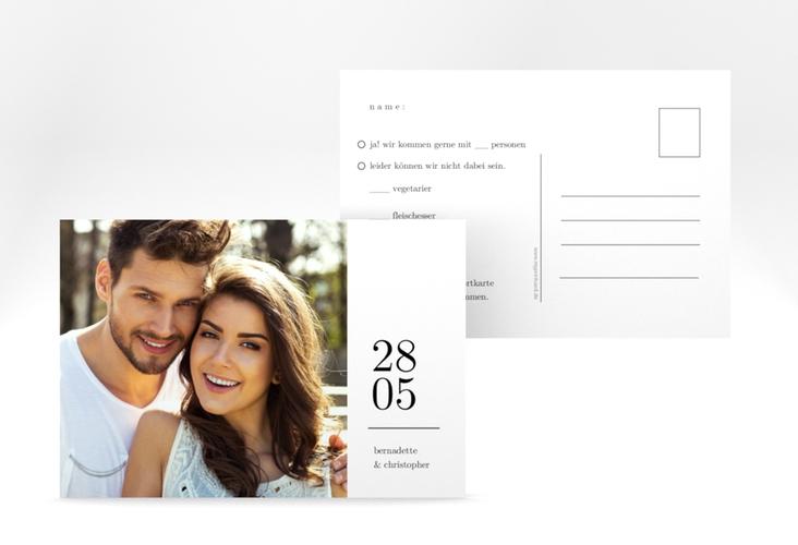 """Antwortkarte Hochzeit """"Minimal"""" A6 Postkarte"""
