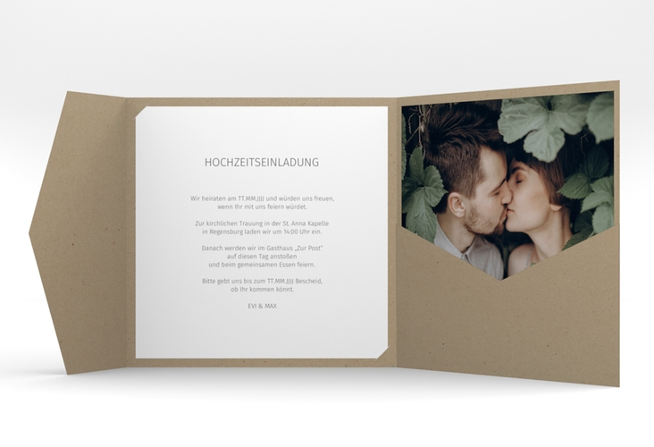 """Hochzeitseinladung """"Pastell"""" Pocketfold rosa"""