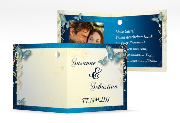 """Geschenkanhänger Hochzeit """"Toulouse"""" Geschenkanhänger 10er Set blau"""