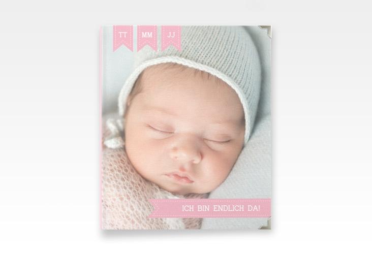 "Baby Fotoalbum ""Kinderlachen"" 21 x 25 cm rosa"