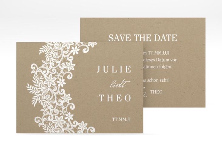 "Save the Date-Visitenkarte ""Mariage"" Visitenkarte beige"