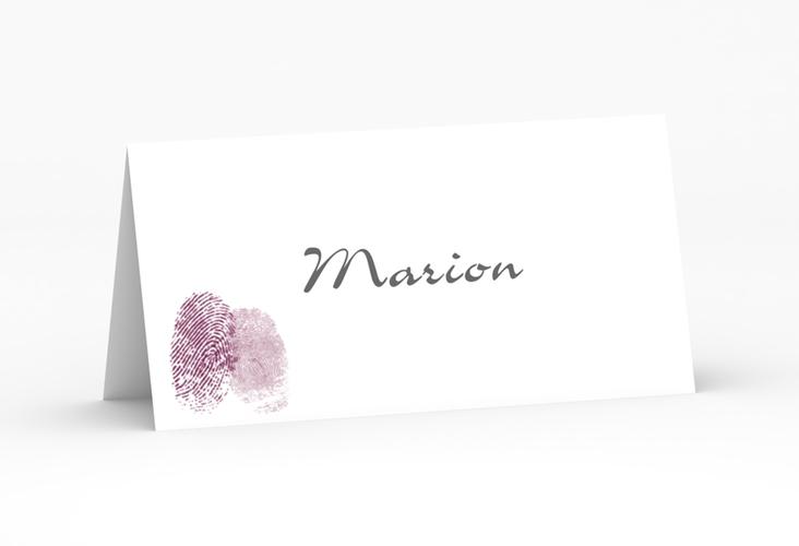 """Tischkarte Hochzeit """"Messina"""" Tischkarten lila"""