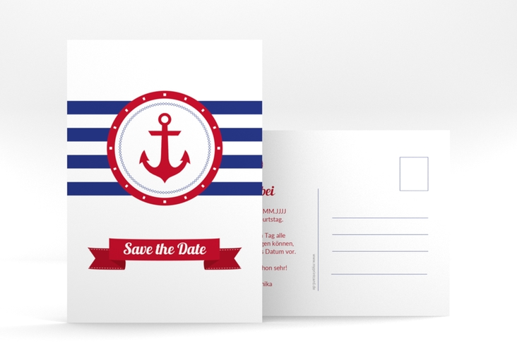 "Save the Date-Postkarte ""Ahoi"" A6 Postkarte"