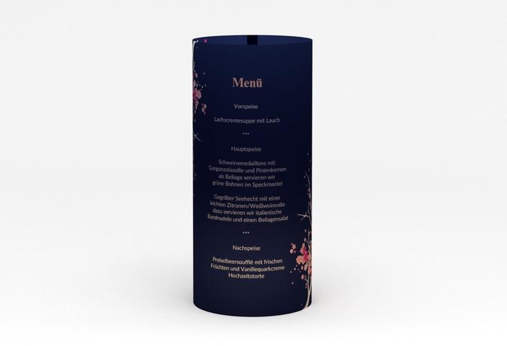 """Windlicht Menü Hochzeit """"Sakura"""" Windlicht blau"""