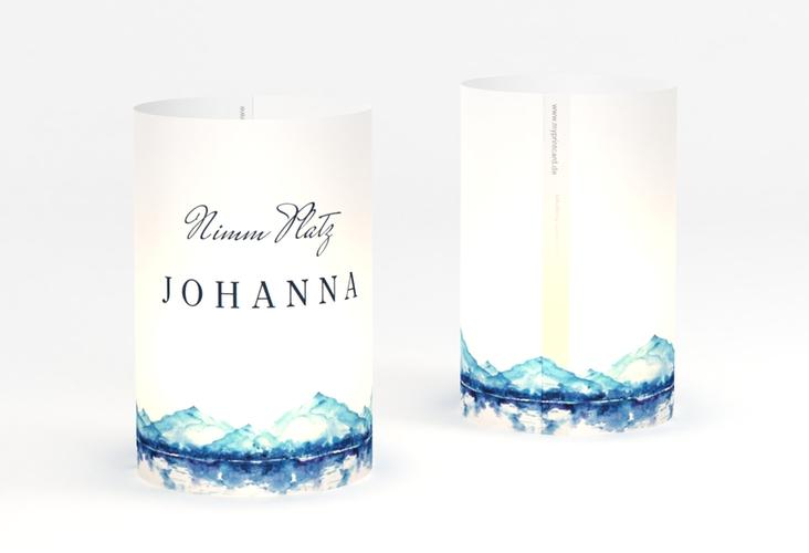 """Windlicht Hochzeit """"Bergliebe"""" Windlicht blau"""