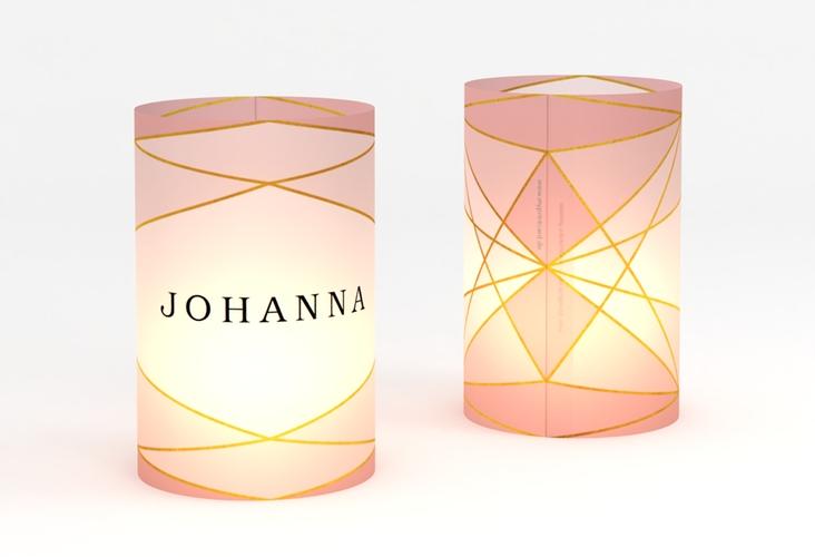 """Windlicht Hochzeit """"Geometric"""" Windlicht rosa"""