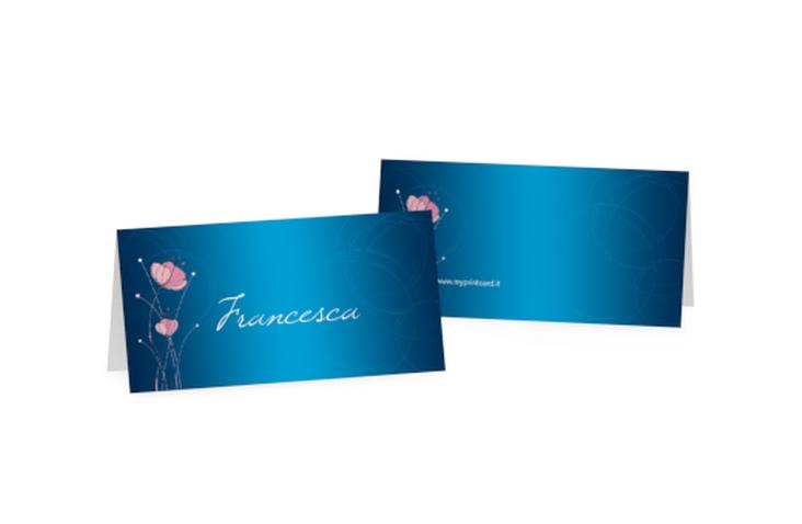 Segnaposti matrimonio collezione Madrid Tischkarten blu