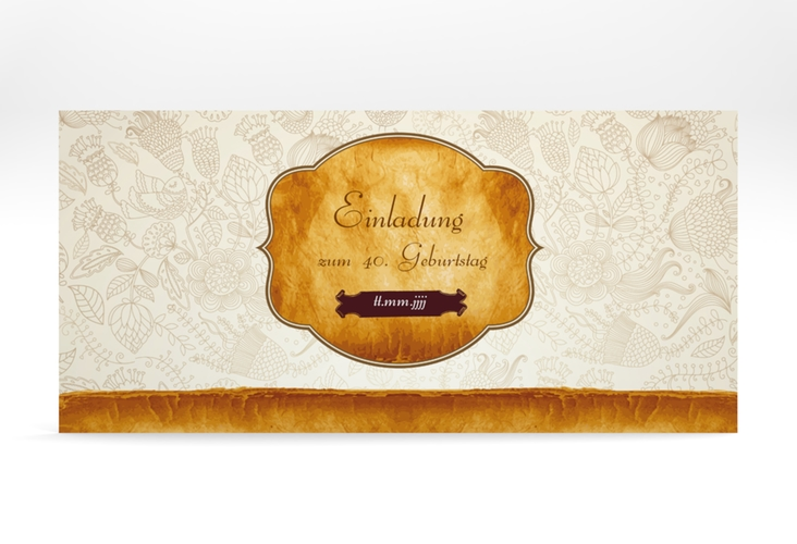 "Einladungskarte ""Luise"" DIN lang"
