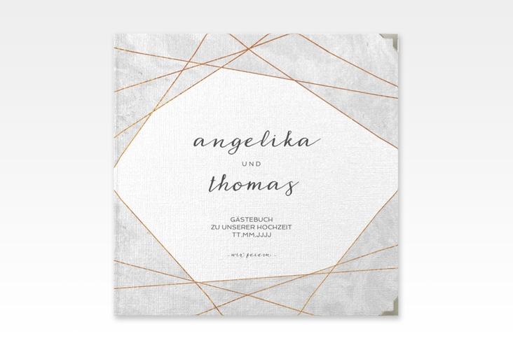 "Gästebuch Selection Hochzeit ""Asymmetry"" Leinen-Hardcover"